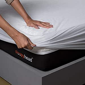 Sleepyhead Bamboo Terry Waterproof Mattress Protector, 78 x 72 (King Size, White)