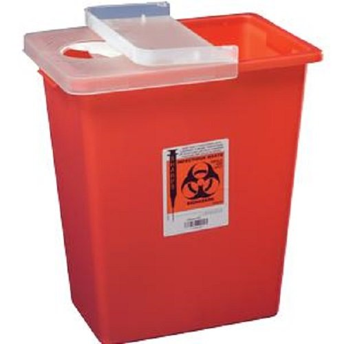 Kendall Sharps Container 8 Gallon Red - Model 8980 by Kendall - Red Sharps Container