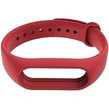 poloeds pulsera inteligente pulsera de silicona banda Correa de reemplazo para Xiaomi Mi Banda 2inteligente Mi Band, hombre Infantil mujer, rojo