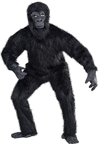 amscan 840924-55 Kostüm Gorilla, Gr. M/L, schwarz