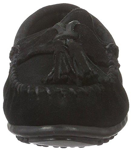 Minnetonka Damen Tasselpennymoc Slipper Schwarz (Black)