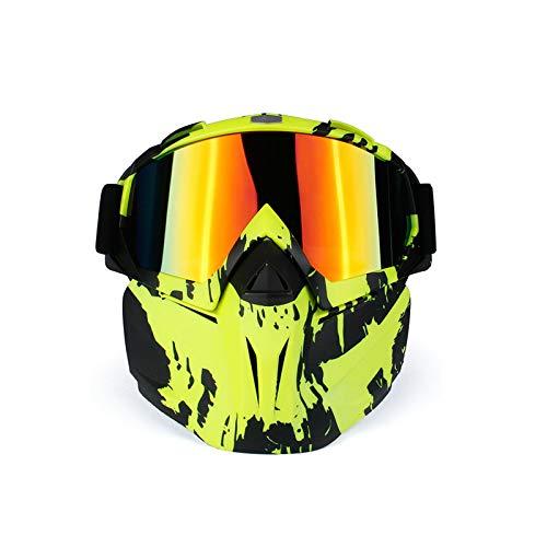 Amody Brille Abnehmbare Motorrad Sportbrillen Maske Brille Motorrad Helm Winddicht Brille Stil M