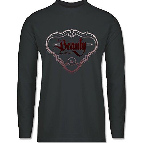 Statement Shirts - Beauty isn´t Makeup - Longsleeve / langärmeliges T-Shirt für Herren Anthrazit