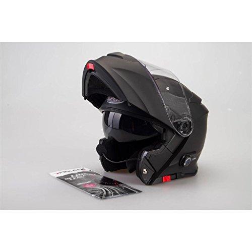 Viper RSV-171–Casco para moto con Bluetooth, panel delantero, negro brillante XS negro mate