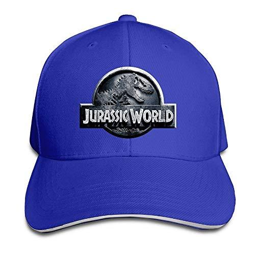 Youaini Jurassic World Sandwich Peaked Hat/Cap Royalblue -