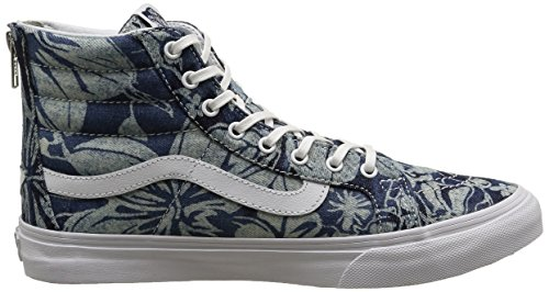 Vans Sk8-hi Slim Zip, Sneakers Hautes mixte adulte Bleu (Indigo Tropical/Blue/True White)