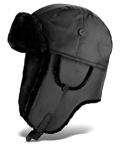 Russische Fellmütze Stern Kokarde Tschapka Fellmütze Wintermütze Russenmütze HüBsch Und Bunt Kleidung & Accessoires Herren-accessoires