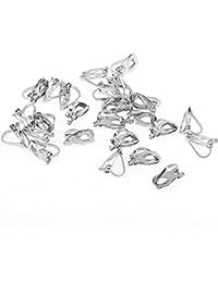 25 Stück Ohrclips Ohrclip Ohrhaken Clips 13x6 mm Silber