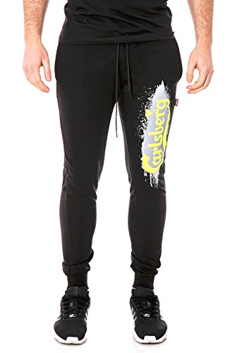 carlsberg-pantaloni-uomo-con-stampa-regular-fit-cbu2590-m-nero