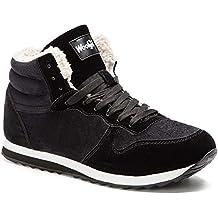 Gaatpot Zapatos Invierno Botas Forradas de Nieve Zapatillas Sneaker Botines  Planas para Hombres Mujer 36- 9922b8f95cb9c