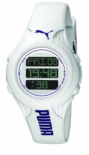 Puma Time PU910782001 - Reloj para mujeres, correa de plástico color blanco