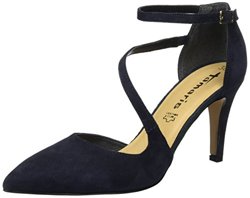 Tamaris Damen 24423 Pumps, Blau (Navy 805), 40 EU
