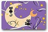 Vidmkeo Custom Machine-washable Door Mat Kitty Cat pattern Indoor/Outdoor Doormat