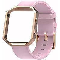 Fur Fitbit Blaze Premium Leder Armband mit Metallrahmen,SnowCinda Ersatz Uhrenarmband fur Fitbit Blaze Smartwatch