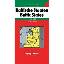Carte routière : Baltische Staaten, mit Ortsverzeichnis