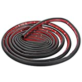 #10: Car seal strip - SODIAL(R) Rubber seal Door seal Autotrack Edge protection Strip self-adhesive D-Type K830