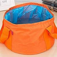 Portable Outdoor 600D Oxford Cloth Fishing Water Basin Travel Camping Washbasin Bucket Sink Bag, Color:Orange