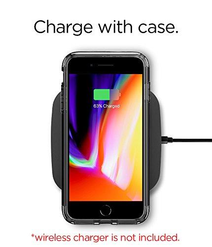 Housse de iPhone 7Plus Spigen [slim Armor] Kickstand Bulles intégré Technologie sur les bords/2pièces Case Coque pour iPhone 7Plus Case, iPhone 7Plus Cover SA Noir de jais