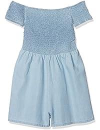 New Look Button Through Pinny amazon blu