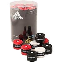 Accesorio Padel adidas 25 unidades de overgrip blanco, negro y rojo