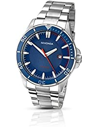Sekonda Men's Quartz Watch with Blue Dial Analogue Display and Silver Stainless Steel Bracelet 1060.27