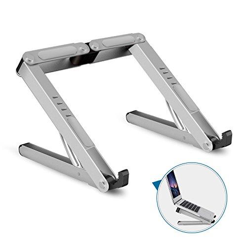 Aoafun Laptop-Ständer, faltbare tragbare belüftete, Halter mit leichten und platzsparenden Design, einstellbare ergonomische Laptop-Kühlung Ständer Halter Aluminium N in 1 (Silber)