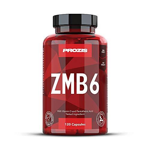 Prozis ZMB6 120 Caps - Cinc, Magnesio y B6 - Fórmula Vitamínico Mineral para Atletas - Impulsor del Sistema Inmunitario - 40 Dosis