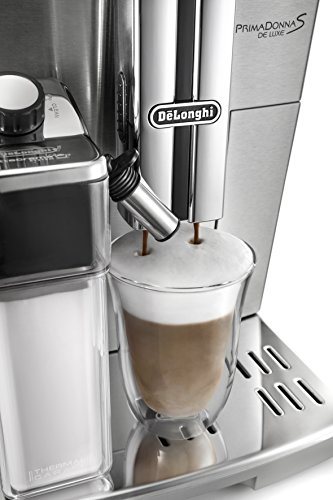 41K3G1MyxsL - De'Longhi Primadonna S Evo, Fully Automatic Bean to Cup Coffee Machine, Espresso and Cappuccino Maker,Stainless Steel…