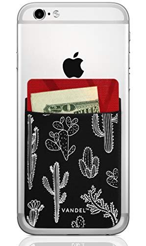 Vandel Pocket: Stick On Fabric Handy Wallet - Kreditkartenhalter für die Rückseite der Smartphone-Hülle - Stretchy Fabric Adhesive Sleeve Kompatibel mit Allen Geräten