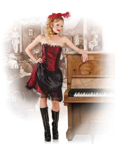Tänzerin Outfits Burlesque (Boland 83520 - Erwachsenenkostüm Saloon Lady, Größe 36 /)