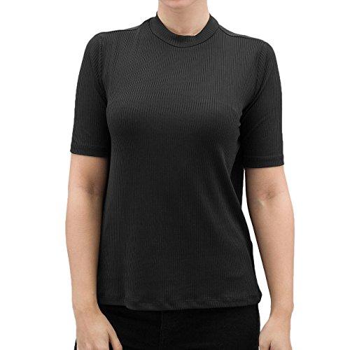 Pieces Damen Oberteile / T-Shirt pcMagna Schwarz