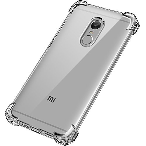 Dashmesh Shopping™ XIAOMI MI REDMI Note 4 Anti Shock Flexible Protective Soft Transparent Shockproof Hybrid Protection Back Case Cover [Bumper Corners]