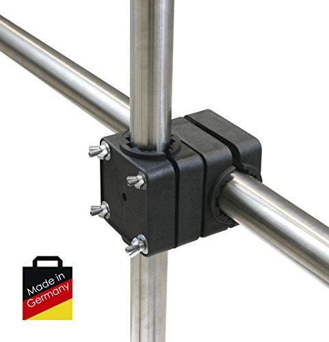 SONNENSCHIRMHALTER Sunnyman von 4smile.shop   Für alle gängigen Geländer und Sonnenschirme bis Ø 40mm geeignet   SONNENSCHIRMSTÄNDER für alle Balkon-Geländer   Made in Germany