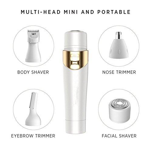 Elektrischer Damenrasierer Schmerzlos Elektrisch Epilierer Ladyshaver Frauen Haar Remover Perfekt für Gesicht / Bein / Hand / Bikini / Achselhöhle (Haare Ab Gesichts-haar-remover)