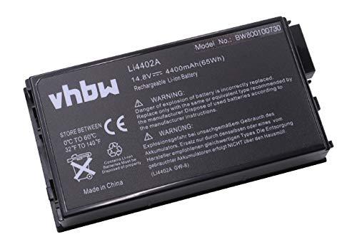 vhbw Akku passend für Targa Visionary 811, 811A, 811C, 811D, 811E, 811F Laptop Notebook - (Li-Ion, 4400mAh, 14.8V, 65.12Wh, schwarz)