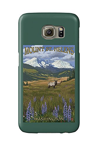 Mount St. Helens, Washington - Elk and Meadow (Galaxy S6 Cell Phone Case, Slim Barely There) -