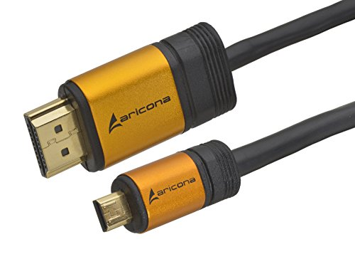 aricona micro hdmi kabel 5m hdmi auf micro hdmi. Black Bedroom Furniture Sets. Home Design Ideas