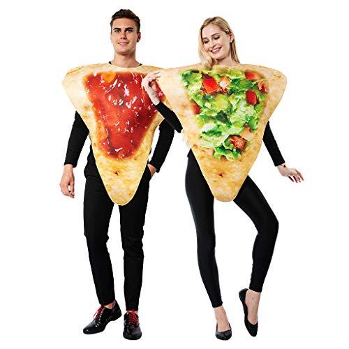 EraSpooky Costume da Cucina Festa di Halloween Vestito Divertente per Uomo Donna Coppia Adulto