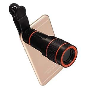 Konfianza 12X Universal Optical Zoom Lens Telescope Clip-on Camera Lens