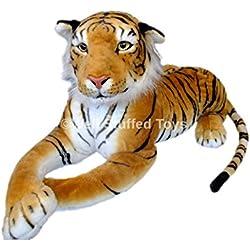 Gran tigre marrón relleno de felpa suave 160cm Tigre de bebé libre