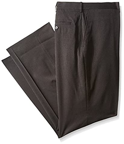 Haggar Men's Big-Tall Performance Heather Pinstripe Suit Separate Pant, Charcoal,