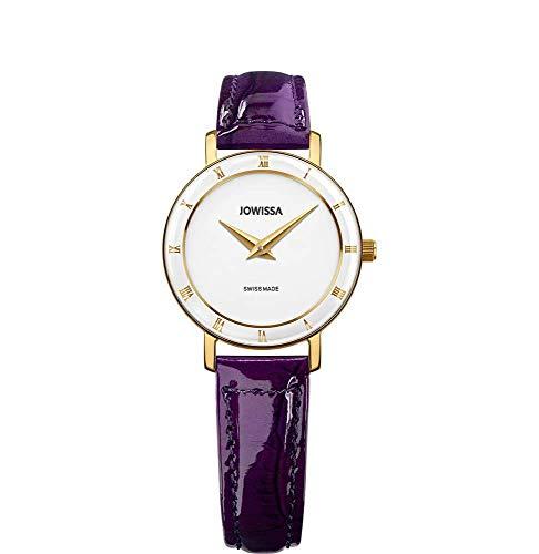 Jowissa Roma Swiss J2.279.S - Reloj de Pulsera para Mujer, Color Blanco, Morado y Dorado