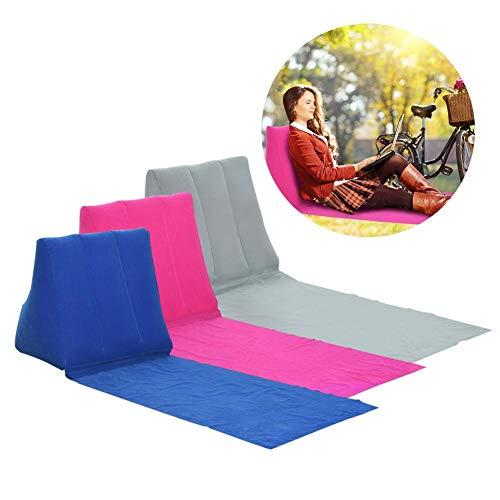 Dire-wolves gonfiabile triangolare cuneo progettato supporto lombare cuscino spiaggia sdraio, colore: Blu/Rosa/Grigio, Grey