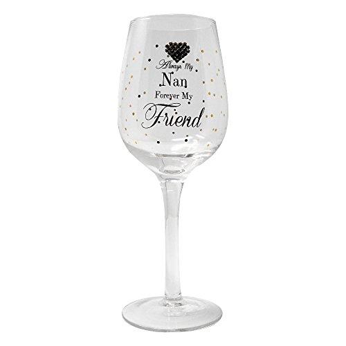 Immer My Nan Forever My friend Geschenkverpackung Wein Glas von MAD Dots