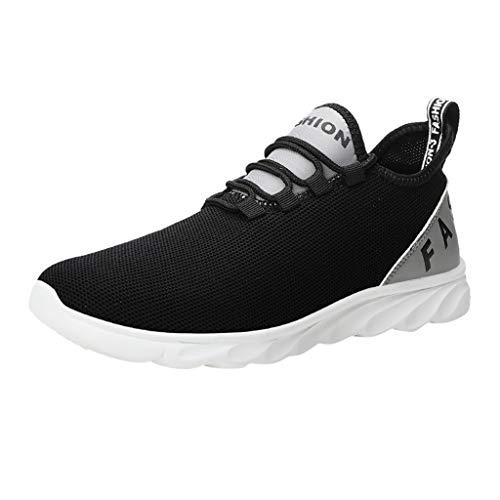 Kapian-A Herren Laufschuhe Fitness straßenlaufschuhe Freizeitschuhe Sneaker Sportschuhe atmungsaktiv Rutschfeste Mode Billige Lace-up Männliche Schuhe Super Leichte Wanderschuhe Trainers