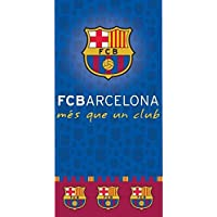 Serviette de Plage Drap de plage coton Fc barcelone Barça Messi Suarez