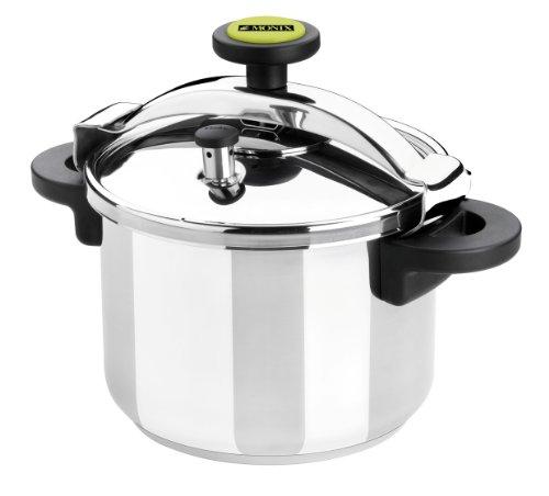Monix Classica - Olla a presión tradicional de 10 litros, acero inoxidable, color gris