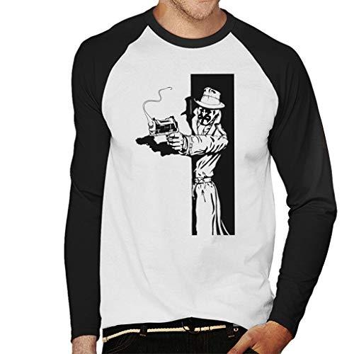 (Rorschach Taking Cover Watchmen Men's Baseball Long Sleeved T-Shirt)