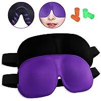 Schlafmaske,2er-Pack 3D Schlafmaske Frauen und Herren,Augenmaske Nachtmaske Verstellbarem Gummiband 100% Hautfreundlich... preisvergleich bei billige-tabletten.eu