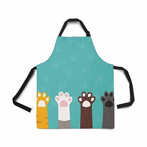 Grillmeister Kostüm - InterestPrint Schürze für Damen, Herren, Mädchen, Koch mit Taschen, verstellbare Lätzchen, Küche, Koch, Kochschürze zum Kochen, Backen, Gartenarbeit, Haustier Fellpflege, Reinigung